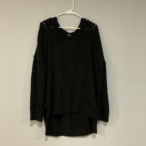 Black Express chunky sweater